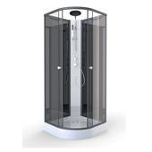 Cabine de douche Zen Aurlane 85x85 cm noir