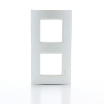 Bticino LivingLight afdekplaat 2-voudig horizontaal zilver
