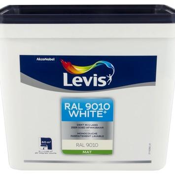 Levis White+ muurverf mat RAL 9010 5L