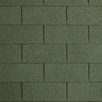 Shingles groen voor Tuinhuis Sunniva / Hawaii  incl. nagels 7 stuks 21 m²