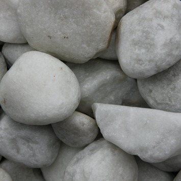 Grind keien Carrara wit 40-80 mm 20 kg