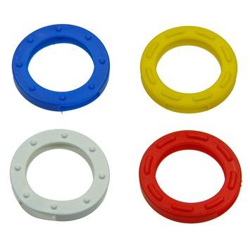 Anneaux clés plastique couleurs différentes 4 pièces