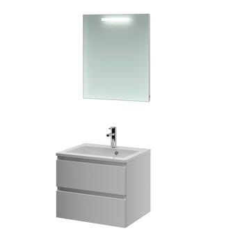 Bruynzeel Cadiza badkamermeubelset 60 cm mat wit met spiegel
