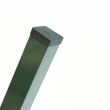 Vierkante paal groen 220 cm
