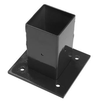 Voet voor vierkante paal zwart 6x6 cm