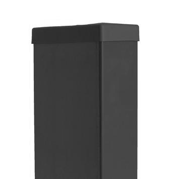 Rechthoekige paal zwart 220 cm