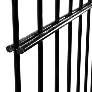 Draadpaneel Roma zwart 123x220 cm