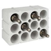 Étagère à bouteilles polystyrène gris pour 12 bouteilles