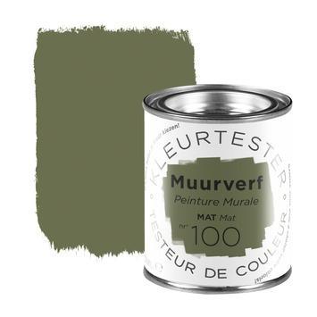 Testeur peinture mat 100 ml n° 100 green thee