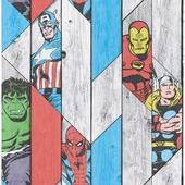 Papierbehang Marvel hout paneel 102493