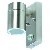 GAMMA wandlamp Edmonton met bewegingsmelder met ecohalogeenlamp GU10 inox