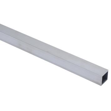 Essentials vierkante buis 25x25x2 mm 1000 mm aluminium brut