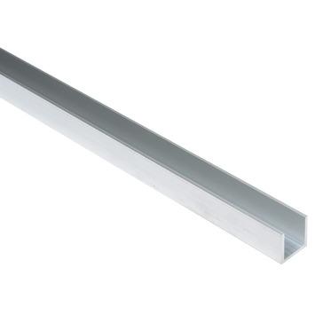 Essentials U-profiel 20x20x20x2 mm 2000 mm aluminium brut