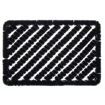 Voetmat draco zwart 40x60 cm