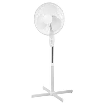 Ventilateur sur pied Portland Handson 40cm blanc avec télécommande