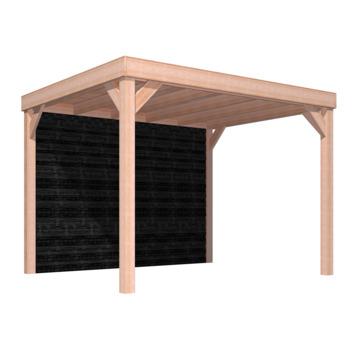 Auvent Douglas 270x330 cm planches à clin suédois noir
