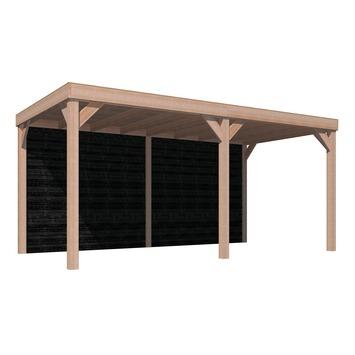 Auvent Douglas 270x522 cm planches à clin suédois noir