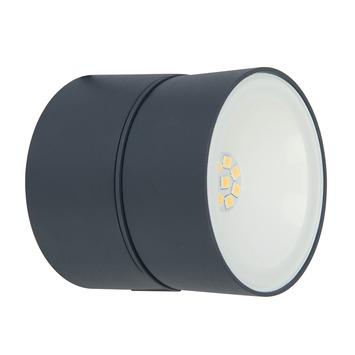 Lutec wandlamp 11W Trumpet grijs