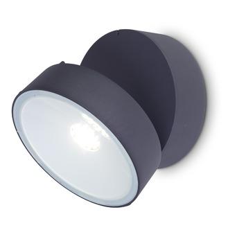 Lutec wandlamp 16W Trumpet grijs