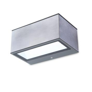 Lutec wandlamp Gemini Inox