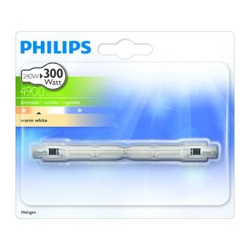 Philips ecohalogeen staaflamp 118 mm 4900 lumen 240W = 300W dimbaar