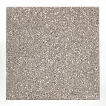 Dalle de terrasse avec revêtement Cobogarden 60x60x4,1 cm gris