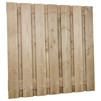 Tuinscherm Douglas recht extra grote planken ca. 180x180cm