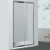 Porte coulissante de douche pour niche Priva Allibert 116-121x190 cm transparent