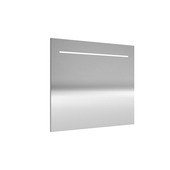 Miroir avec éclairage LED Deli Allibert 90x70 cm aluminium
