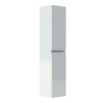 Armoire colonne 2 portes Livo Allibert 40 cm blanc brillant