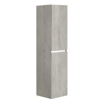 Allibert Pesaro kolomkast 40 cm met 2 deuren betonlook