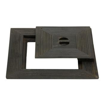 Couvercle puisard simple 50x50cm fonte