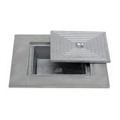 Couvercle puisard double 50x50cm aluminium