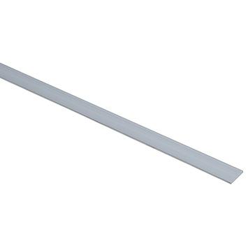 Essentials plat profiel 20x2 mm 1000 mm aluminium brut