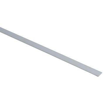 Essentials plat profiel 15x2 mm 1000 mm aluminium brut