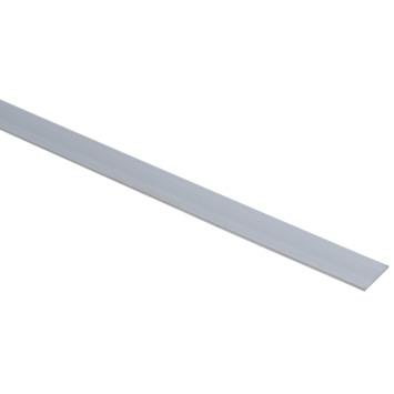 Essentials plat profiel 25x2 mm 2000 mm aluminium brut