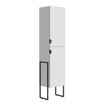 Armoire colonne 2 portes Faktory Allibert 40 cm blanc
