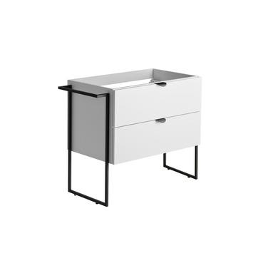 Armoire sous-lavabo 2 tiroirs Faktory Allibert 80 cm blanc