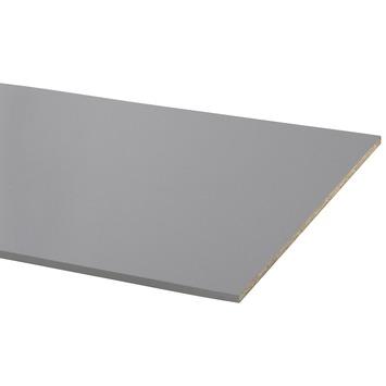 Panneau de meuble CanDo pefc avec couvre-chant sur 2 côtés longs 18 mm 250x80 cm couleur alu