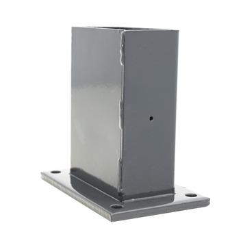 Voet voor rechthoekige paal antraciet 60/120 mm