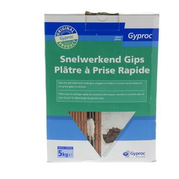 Plâtre Gyproc prise rapide blanc 5 kg