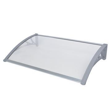 Deurluifel kunststof grijs 100x60 cm 3 mm