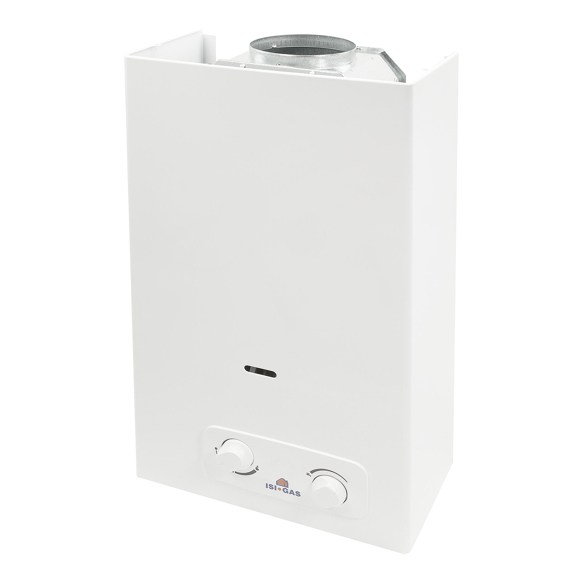 chauffe eau gaz naturel 14 l blanc chauffe eau accessoires chauffage central sanitaire. Black Bedroom Furniture Sets. Home Design Ideas