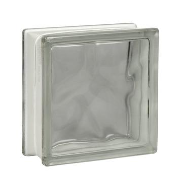 Brique de verre moiré transparent 19x19x8cm