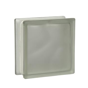 Brique de verre moiré transparent mat 19x19x8cm