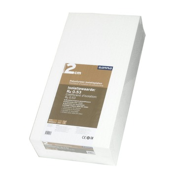 GAMMA polystyreenplaat 100x50x2 cm 12 stuks
