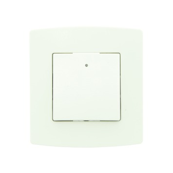 Profile schakelaar 2-polig + afdekplaat enkelvoudig wit