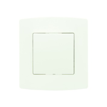 Interrupteur unipolaire avec plaque de finition Profile blanc
