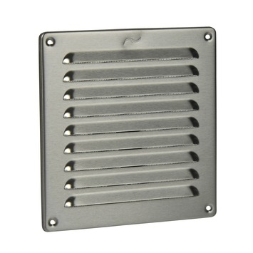 Grille à pales IVC Air 195 x 195 mm inox