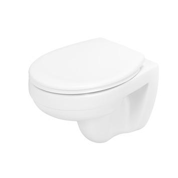 Wc suspendu sans rebord de rinçage Atlantic Nick siège WC compris